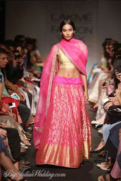 sister of the bride reception Sanjay Garg at Lakme Fashion Week Winter/Festive 2014 Lakme Fashion Week, India Fashion, Asian Fashion, Women's Fashion, Indian Attire, Indian Ethnic Wear, Indian Style, Indian Dresses, Indian Outfits