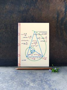 Golden Ratio. Geometry Embroidered A5 Notebook. Fibonacci's Geometric Journal. Maths Men's Cream Notebook. Back to School. Sciences Art Book by FabulousCatPapers on Etsy https://www.etsy.com/listing/181446118/golden-ratio-geometry-embroidered-a5