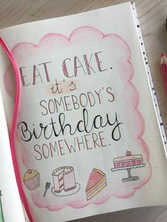 Quote birthday – bullet journal - My Great Pins Bullet Journal Birthday Tracker, How To Bullet Journal, Bullet Journal Quotes, Bullet Journal Writing, Bullet Journal Ideas Pages, Bullet Journal Inspiration, Journal Pages, Bullet Journals, Bujo