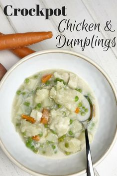 Slow Cooker Chicken and Dumplings. Southern comfort food made easier in your crockpot. Delicious! via /merry120/