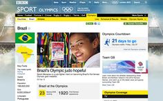 Country page for Brazil, leading with a story about Judo fighter Sarah Menezes