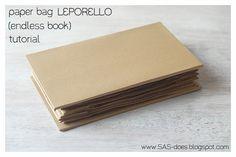 LEPORELLO (ENDLESS BOOK) BINDING TUTORIAL | SAS does ...: LEPORELLO (ENDLESS BOOK) BINDING TUTORIAL