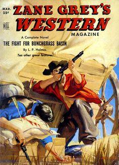Zane Grey's Western Magazine (March 1951) by Mayo Olmstead