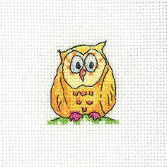Owl on a Branch Card Kit - Heritage Crafts cross stitch kit
