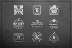 Ad: Coffee logo kit by Alfazet Chronicles on Set of coffee vintage logotype. Perfect for coffee logo, cafe or restaurant! Zip contains: AI / EPS / PSD / PNG Fonts and mockups in a set Coffee Milk, Espresso Coffee, Coffee Shop, Premium Coffee, Coffee Logo, Logo Restaurant, Modern Logo, Logo Templates, Kit