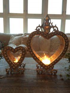 Beautiful Heart Head Lights in Silver. Comes in three sizes. Chandelier Bougie, Chandeliers, Heart In Nature, Heart Art, I Love Heart, Happy Heart, Small Heart, Shabby, Fire Heart