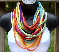 T Shirt Necklace Tee Shirt Scarf  Circle Scarf  by MarciaPalmer, $16.00