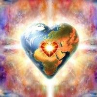 Mother Earth's Heart Chakra 7 Chakras, Auras, Images Gif, Free Images, Montage Photo, Gif Animé, World Peace, Abraham Hicks, Love And Light