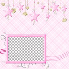 """Layout QP 3B CAFS Pink…..Quick Page, Digital Scrapbooking, Catch A Falling Star Collection, 12"""" x 12"""", 300 dpi, PNG File Format"""