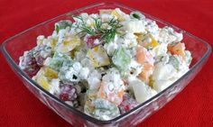 Cottage cheese and fresh veggies! Quick Healthy Meals, Healthy Eating, Healthy Recipes, Healthy Food, Cottage Cheese Salad, Real Food Recipes, Cooking Recipes, Cold Dishes, Recipe For Mom