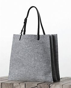 Cline bag $1,600.00   Looks almost as nice as my $8-$9 grey felt tote from Whole Foods :) Handmade Handbags & Accessories - http://amzn.to/2ij5DXx