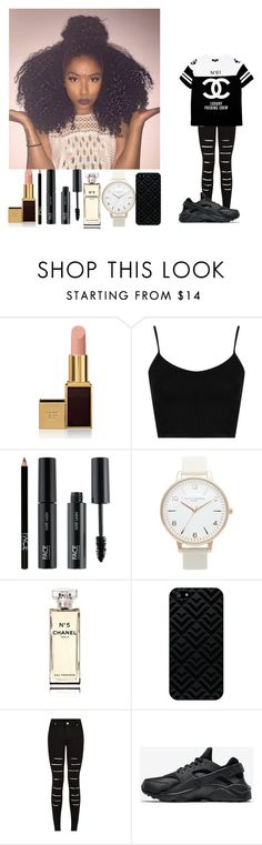 """"" by rosemie ❤ liked on Polyvore featuring Tom Ford, Topshop, FACE Stockholm, Olivia Burton, Chanel, NIKE, women's clothing, women's fashion, women and female"