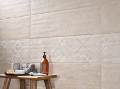 STOWN Collection - COLORKER #bath #tiles #whitebody #cementeffect #decor #interiors #colorker