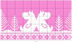 Pink with trees and moomin and pattern Knitting Charts, Knitting Socks, Knitting Stitches, Knitting For Kids, Double Knitting, Baby Knitting, Cross Stitch Pattern Maker, Cross Stitch Patterns, Pixel Crochet