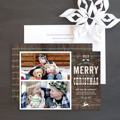 Country Western Holiday Photo Cards by Elli