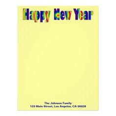 Colorful Happy New Year Letterhead Design