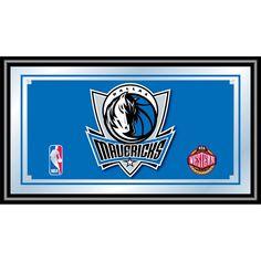 Trademark Commerce NBA1500-DM Dallas Mavericks NBA Framed Logo Mirror