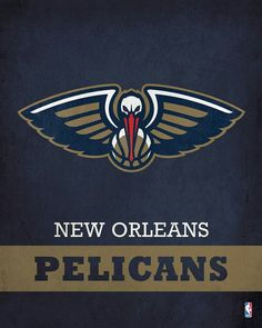 Parade your devotion for the New Orleans Pelicans with this Printed Canvas  from ScoreArt. - New Orleans Pelicans Logo cf10cf29c