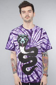 The Death Adder Snake Tee in Purple Tie-Dye by Mishka