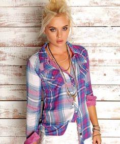 ca62268759e Rails plaid button up shirt via boutiika.com  123 White Lace Shorts
