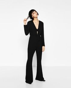 Image 1 of KNOT NECKLINE JUMPSUIT from Zara