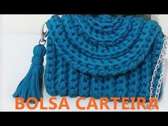 BOLSA CARTEIRA EM MALHA GANHE DINHEIRO COM ESTA IDÉIA - YouTube Crochet Clutch Pattern, Crochet Pouf, Crochet Basket Pattern, Crochet Patterns, Jean Purses, Purses And Bags, Handmade Leather Wallet, Crochet Shirt, Crochet Handbags