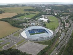 Brighton and Hove Albion Football Stadium. Brighton & Hove Albion, Brighton And Hove, Football Stadiums, Airplane View