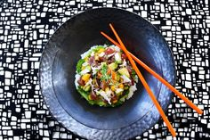 Tuna poke from The RawBar at The Lobby Lounge Vancouver Bars, Fairmont Pacific Rim, Tuna Poke, Lobby Lounge, Sushi, The Best, Rolls, Menu, Fresh