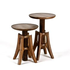 Piano Stool by James Pearce. A study of elegant aesthetic and function, this stool is a testament to Pearce's workmanship, skillfully hand-fashioned from walnut and finished with a durable, silky smooth varnish. The screw seat is adjustable from 19