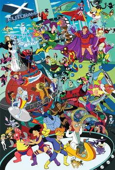 very cool Futurama super-hero mashup