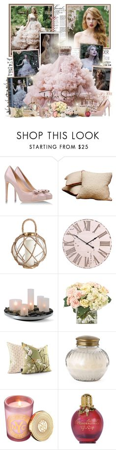 """""""Wonderstruck"""" by productionkid ❤ liked on Polyvore featuring Gwyneth Shoes, Currey & Company, Salvatore Ferragamo, Twill Textiles, DwellStudio, WALL, Philippi Design, INC International Concepts, Inhabit and Capri Blue"""