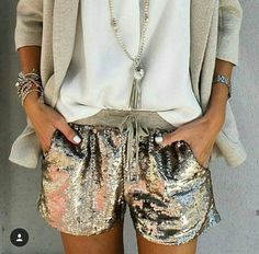 Sparkly pants