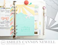 Planner by Ashley Cannon Newell for Papertrey Ink (August 2015) #AshleyCannonNewell #MomentsInked #PapertreyInk #Planner #Dashboard