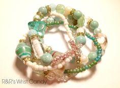 Mixed Mint Green Cross Bracelet Set by RandRsWristCandy on Etsy, $10.00