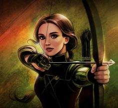 "daekazu: Small portrait of Katniss from the last ""Hunger Games"" movie…"