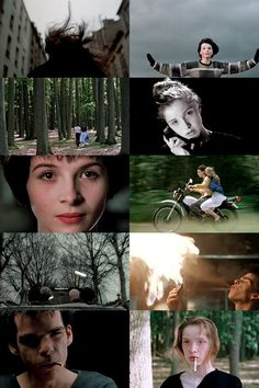 A collage of stills from Mauvais sang