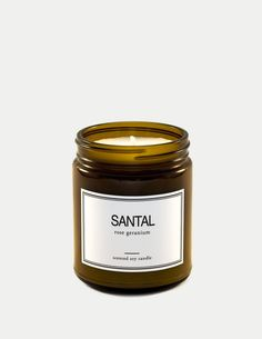 Santal captures the essence of modern romance. It holds a poetic blend of floral and spicy notes that will intrigue and leave your room beautifully fragrant. Soy Candles, Scented Candles, Candle Jars, Geraniums, Rose, Floral, Pink, Roses, Florals