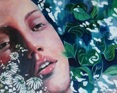 """Signed original acrylic painting on canvas by Janet Stocker as inspired by the movie """"Blue is the Warmest Colour"""". Dimensions: 76 x 82 cm x cm. Blue Is The Warmest Colour, Blood Art, Original Art For Sale, Acrylic Painting Canvas, Limited Edition Prints, Warm Colors, Figurative Art, Online Art Gallery, Contemporary Artists"""