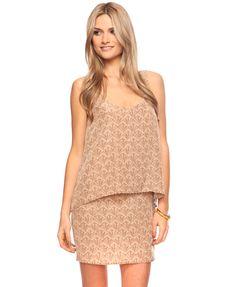 Leaves Overlay Dress | forever21.com $22.80