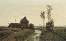 Paul Joseph Constantin Gabriel (1828-1903) By The Farmhouse (38,5 x 61 cm)