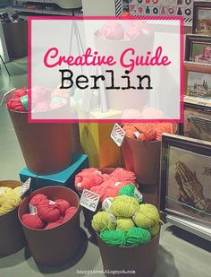 IDEE, DIY and craft department store in Berlin (across from KaDeWe)   Happy in Red