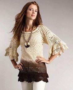 An elegant crochet blouse MADE TO ORDER van AsDidy op Etsy