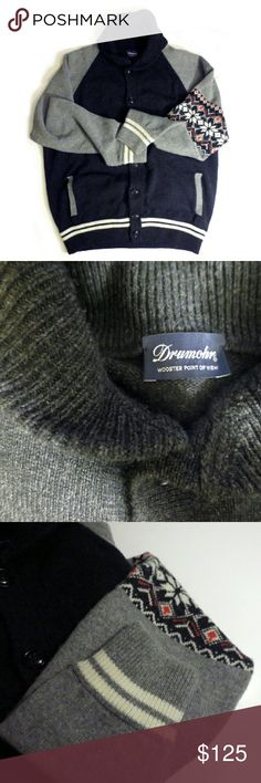 Drumohr Cashmere Cardigan Sweater Great condition. Size 52. Fits like a XL. button front Drumohr Sweaters Cardigan