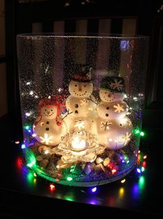 Mr. Snow and family in the Magestic Hurricane by Partylite