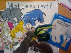 KindergartenWorks: retell literacy center activity - Polar Bear, Polar Bear, What Do You Hear? (other books on this site too- chicka chicka boom boom, very hungry caterpillar, etc) Preschool Books, Kindergarten Literacy, Early Literacy, Kindergarten Activities, Literacy Centers, Book Activities, Retelling Activities, Preschool Winter, Preschool Lessons