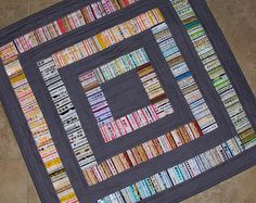 Grey Selvage Quilt by quilts by elena, via Flickr  Rich colors and love color layout