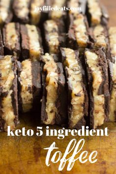 Homemade keto toffee is so easy but so satisfying. It looks and tastes like the expensive toffee bark in fancy chocolate shops. My buttery toffee candy can be made with pecans, almonds, walnuts, or macadamia nuts and has only 6 ingredients and takes minutes. Even if you've never made candy before you can make this.