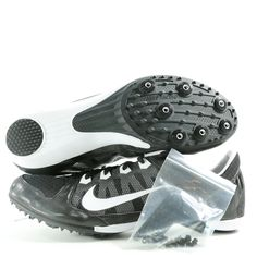 NIKE Zoom Rival MD 7 Track & Field Sprint Racing Shoes Spikes (Black)