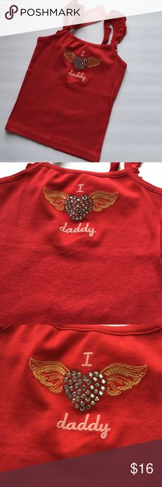 Gymboree red tank top shirt new NWT 4 Gymboree new with tags top ~I love my daddy~, perfect for Father's Day  Size:4  Sold out Smoke and pet free home Gymboree Shirts & Tops Tank Tops