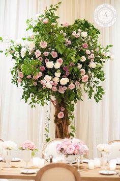 """www.anneandersonevents.com Romantic rose garden tree arrangements with vintage tables and chairs. #anneandersonevents #wedding #weddingplanner #weddingplanning #luxuryweddings #weddingdecor  #miamiweddings #muskokaweddings #torontoweddings   Arreglos románticos de arboles de jardín de rosas con mesas y sillas """"vintage"""". #planeaciondebodas #diseñodebodas #inspiracionbodas #bodasespectaculares #bodasoriginales #bodasmiami #bodastoronto"""